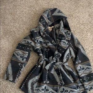 Brown hooded coat